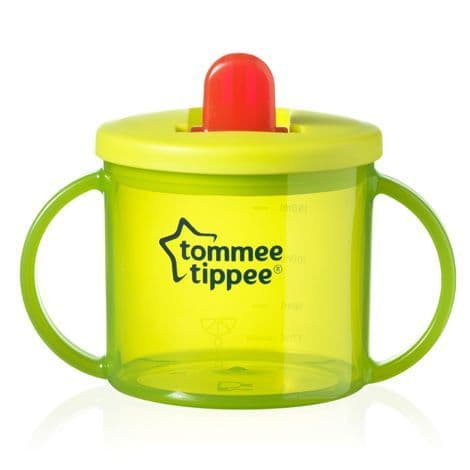 Tommee Tippee Essentials First Flip Top Cup (Green) TWIN PACK