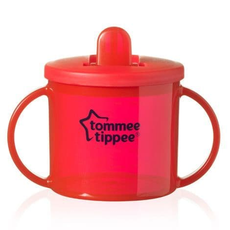 Tommee Tippee Essentials First Flip Top Cup (Red) TWIN PACK