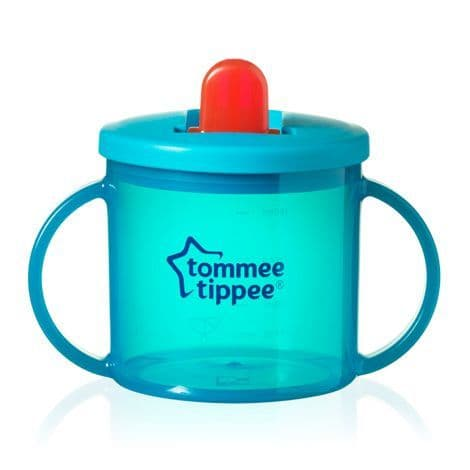 Tommee Tippee Essentials First Flip Top Cup (Turquoise) TWIN PACK