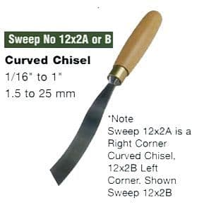 Curved Corner Chisel (Sweep No.12x2A - Right Corner)