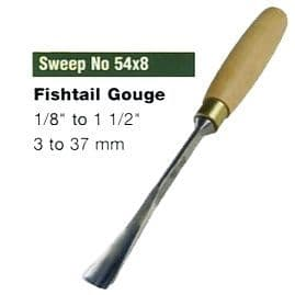 Fishtail Gouges (Sweep No.54x8)