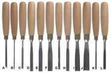 Set of 12 Zoe Gertner Lightweight Chisels