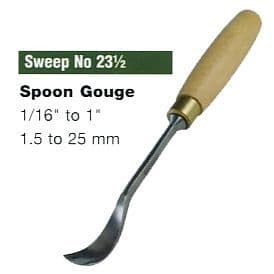Spoon Gouges (Sweep No.23 1/2)