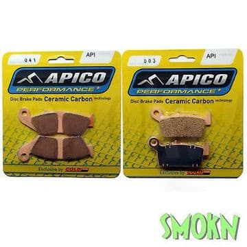 Apico 041 Front & 003 Rear Brake Pads Gas Gas EC 125 200 250 300 00-09 Sintered