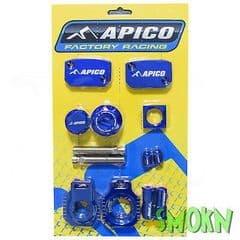 Apico Factory Bling Pack fits KTM 250 300 EXC 250 350 450 500 EXC-F 14-22 Blue