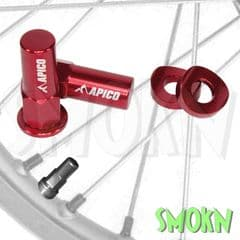 Apico Front & Rear Rim Lock Nuts & Curved Washers CNC for Tyre Clamps MX Enduro