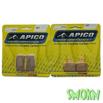 Apico Trials 325 Front 173 Rear Brake Pads Montesa RR & Repsol models Braktec