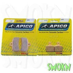 Apico Trials 388 Front 173 Rear Brake Pads Gas Gas TXT Racing 125-300 19-22