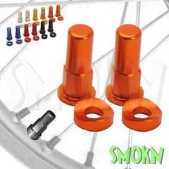 RFX Front & Rear Anodised Rim Lock Nuts & Washers fit KTM 125 150 250 XC SX OR