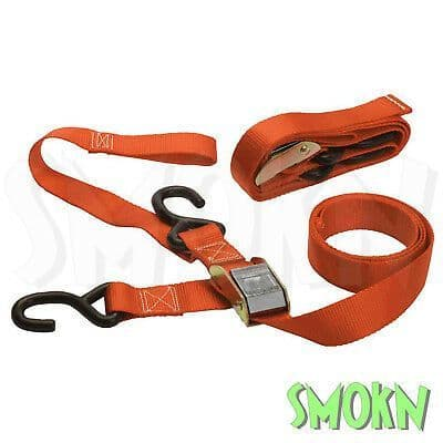 """RFX Motocross Heavy Duty 1.5"""" Tie Down Straps with Bar Loops & Carabiner Clamps"""