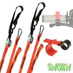RFX Tie Down Straps Bar Loops & Carabiner Clamp with Front Brake Lock MX Enduro