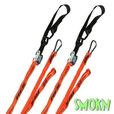 RFX Tie Down Straps Bar Loops & Carabiner for KTM SX 85 125 150 250 300 EXC OR