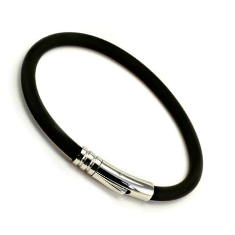 5mm Rubber Bracelet With Stainless Steel Clasp
