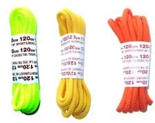 120cm BRITISH QUALITY Shoe Laces, Boot Laces Thick Cord  Bright New Colours