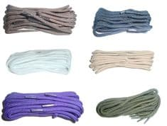 140cm BRITISH QUALITY Shoe Laces, Boot Laces Thin Round  choice of colours
