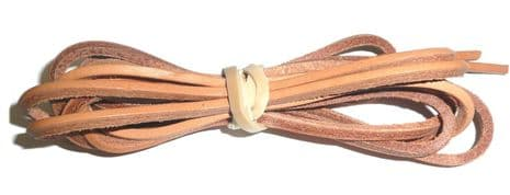 200cm BRITISH QUALITY Tan Leather Laces Top Quality sold in pairs