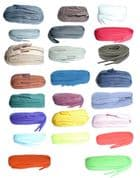 BRITISH QUALITY Shoe Laces Flat 100cm long  choice of colours