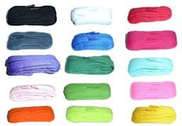 BRITISH QUALITY Boot Shoe Laces 140cm long Chunky Extra wide Flat CHOICE colours