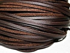 BRITISH QUALITY DARK BROWN Leather Shoe and Boot Laces different lengths