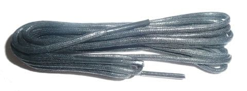 BRITISH QUALITY Traditional Waxed Cotton Dress Shoelaces 2.5 mm in Black