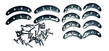 Metal Kick Plates 6 pairs - 4 x 35mm with 12mm nails - 2 x 47mm with 12mm nails