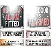 Security and Alarm Signs for Home, or Business