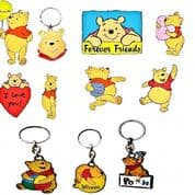 Winnie the Pooh Bear Key Rings, Genuine Key Rings Choice of Different designs