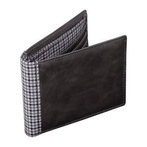 Jacob Jones 73344 Grey Wallet With Grey Checker Cotton Lining