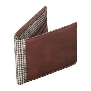 Jacob Jones 73344 Tan Wallet With Brown Checker Cotton Lining