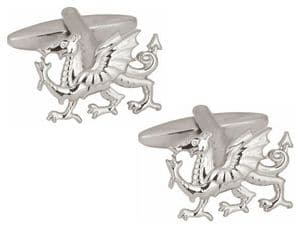 Dalaco 90-1080 Welsh Dragon Cut Out Gold Plated Cufflinks