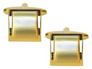 Dalaco 90-2210 Dual Finished Square Gold Plated Cufflinks