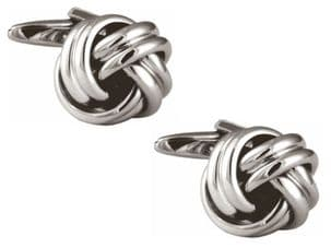 Dalaco 90-9032 Large Open Rounded Knot Gold Plated Cufflinks