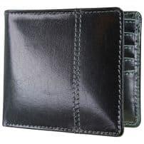 Dulwich Designs 70871 Black Wallet With Grey Lining