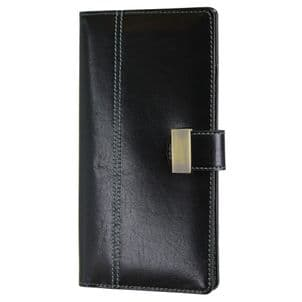 Dulwich Designs 70872 Black Travel Wallet With Grey Lining