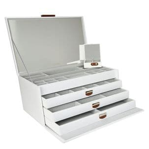 Dulwich Designs 71177 White Extra Large Jewellery Box