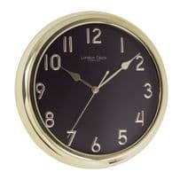 London Clock Company 01062 Gold Finish Wall Clock