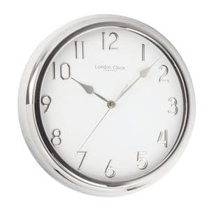 London Clock Company 01063 Silver Finish Wall Clock