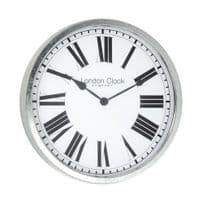 London Clock Company 01079 Galvanised Indoor / Outdoor Wall Clock