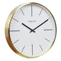 London Clock Company 01123 Gold Case Wall Clock