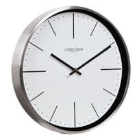 London Clock Company 01124 Silver Case Wall Clock