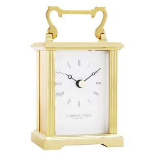 London Clock Company 02053 Solid Brass Carriage Clock
