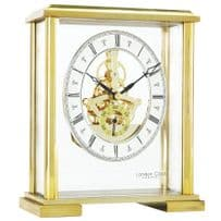 London Clock Company 02085 Gold Finish Square Top Skeleton Mantel Clock