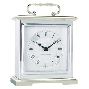 London Clock Company 03036 Silver Finish Carriage Clock