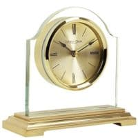 London Clock Company 03149 Gold Finish Break Arch Mantel Clock