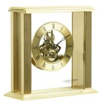 London Clock Company 03151 Gold Simple Frame Skeleton Mantel Clock