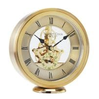 London Clock Company 04114 Gold Round Skeleton Mantel Clock