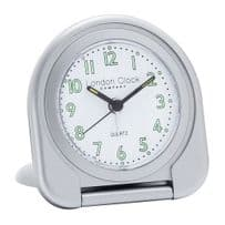 London Clock Company 04135 Silver Flip Alarm Clock