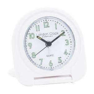 London Clock Company 04136 White Flip Alarm Clock
