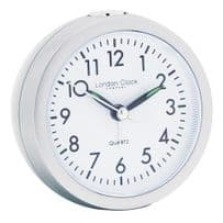 London Clock Company 04138 Silver Round Alarm Clock