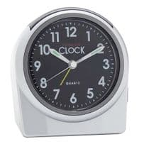 London Clock Company 04148 Silver Round Alarm Clock